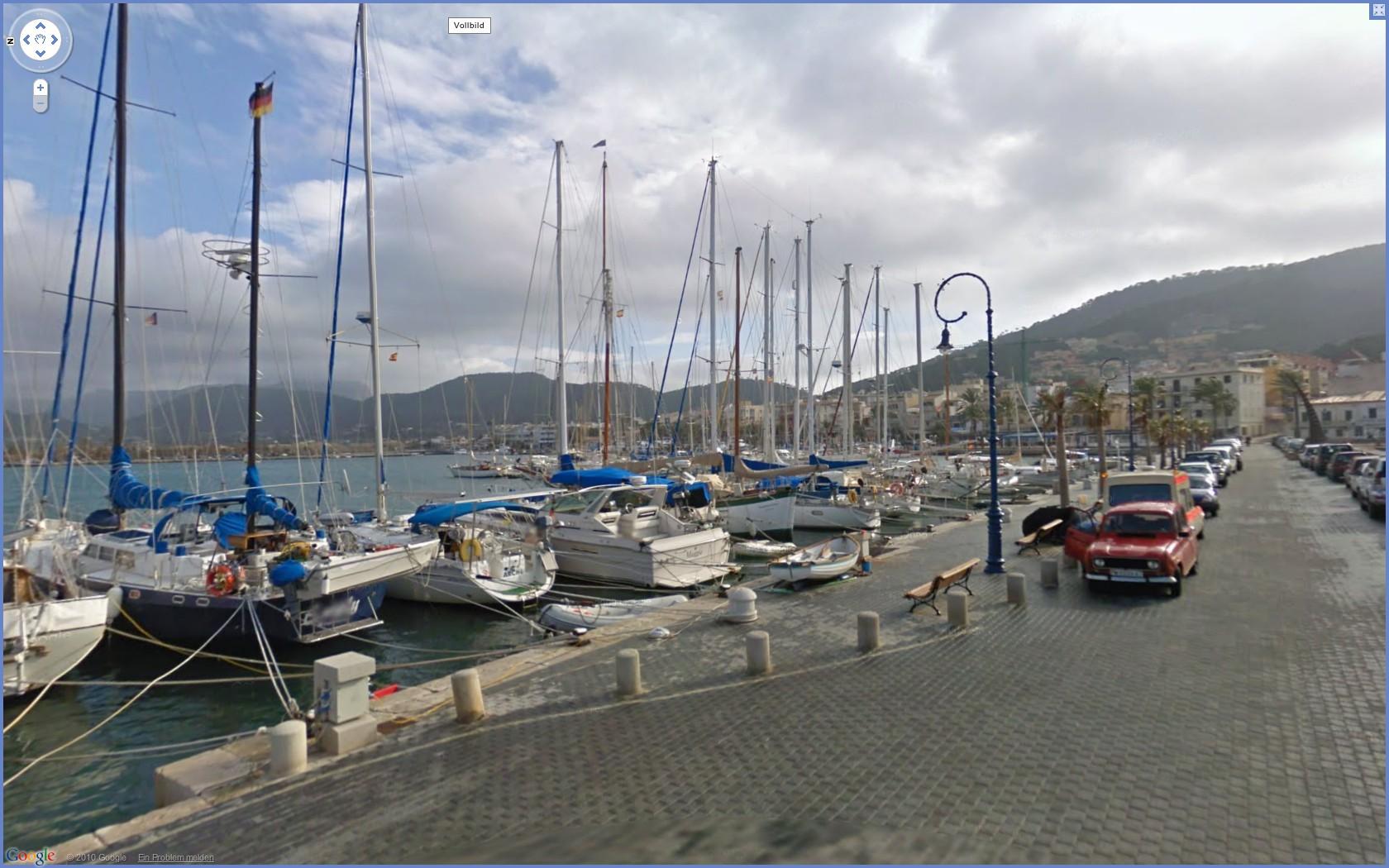 Street View: Das eigene Haus kann ab sofort verpixelt werden - Google Street View: Port s'Andratx (Mallorca)