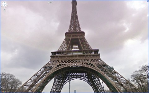 Google Street View: Eiffelturm in Paris