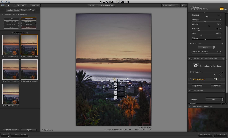 Nik Software: HDR-Fotobearbeitung ohne Maskierungen - Nik Software HDR Efex Pro - Anwendung der U-Point-Technik  (Foto: Andreas Donath)