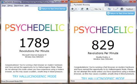 Psychedelic Browsing zeigt, wie HTML5 Canvas von Hardwarebeschleunigung profitiert.