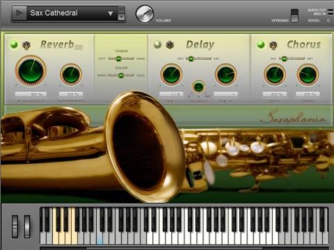 Magix Music Maker 17 - Standard mit den Saxofon-Einstellungen