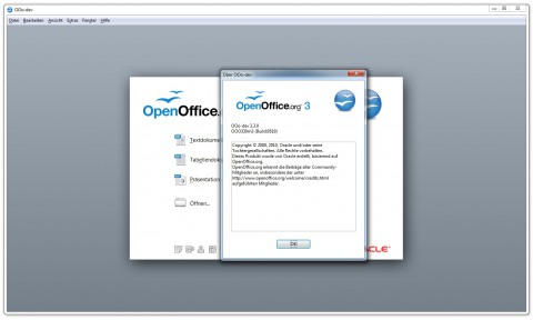 Openoffice.org 3.3 - About-Dialog