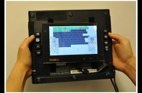 Reartype-Prototyp: ein 7-Zoll-Tablet mit Tastaturkomponenten von CH Products