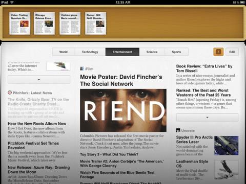 Times für das iPad - Speichern von Artikeln