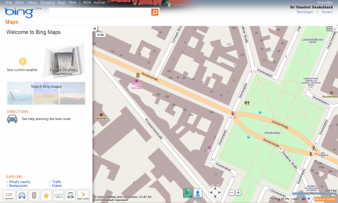 Bing Maps mit OpenStreetMap-Layer