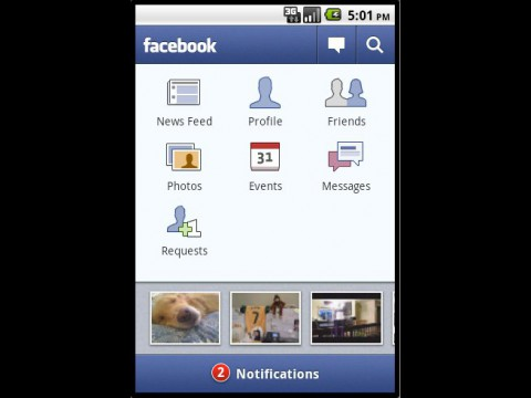 Facebook for Android 1.3.0 (Bild: Facebook)
