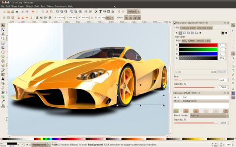 Inkscape 0.48 in Aktion
