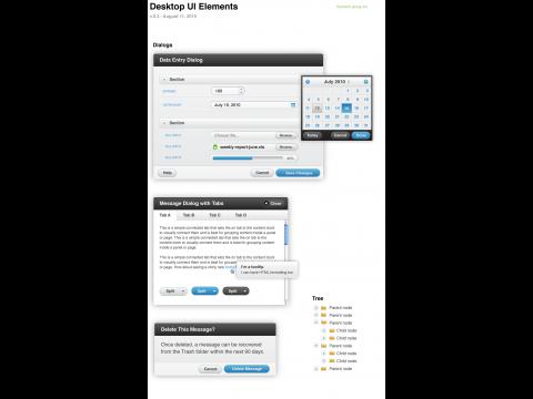UI-Komponenten von jQuery Mobile (Stand August 2010)