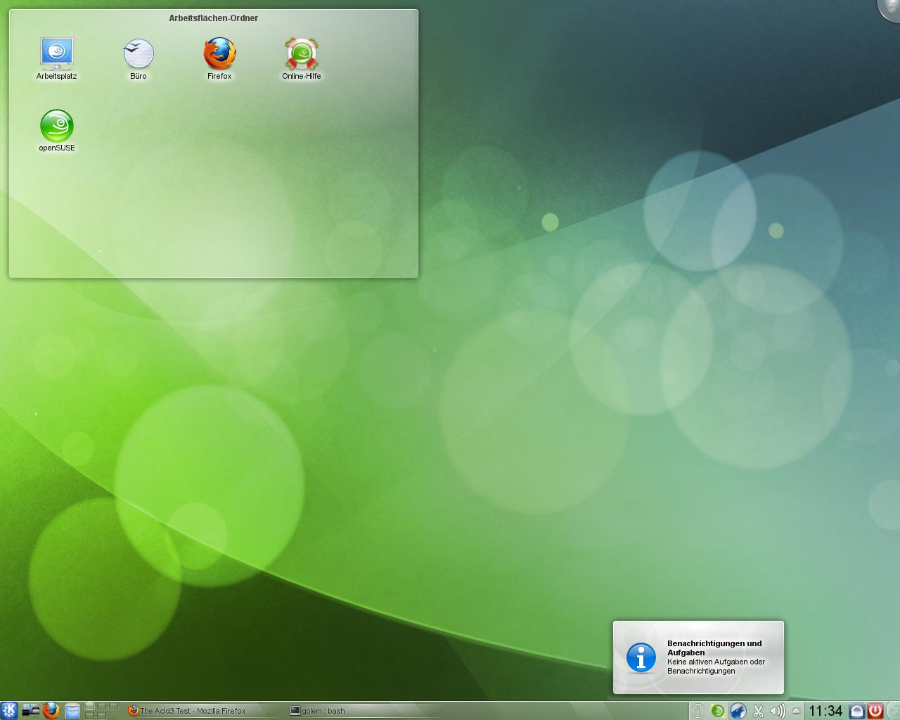 KDE SC 4.5: Neue KWin-Effekte und verbessertes Benachrichtigungsfeld - Das Benachrichtigungsfeld...