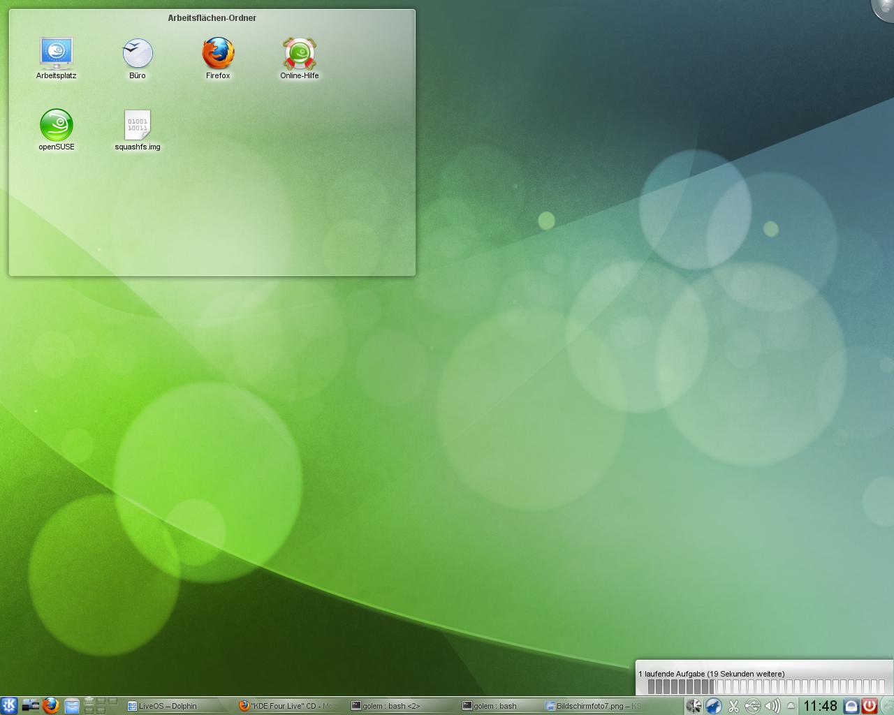 KDE SC 4.5: Neue KWin-Effekte und verbessertes Benachrichtigungsfeld - ...oder dezent Statusmeldungen ausgeben.