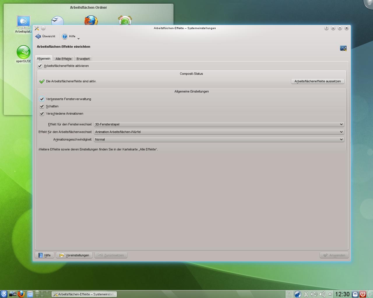 KDE SC 4.5: Neue KWin-Effekte und verbessertes Benachrichtigungsfeld - ...vorgenommen werden.
