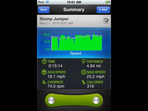 LiveRider-App - Geschwindigkeitsprofil