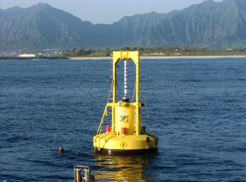 Wellengenerator Powerbuoy (Foto: Ocean Power Technologies)
