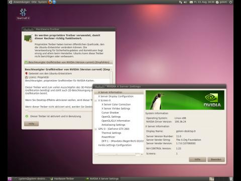 Für das Spielen von Starcraft 2 unter Linux werden OpenGL-Treiber benötigt.