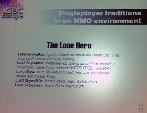 Der einsame Held - in vielfacher Ausfertigung im MMO unglaubwürdig (Foto: ck)