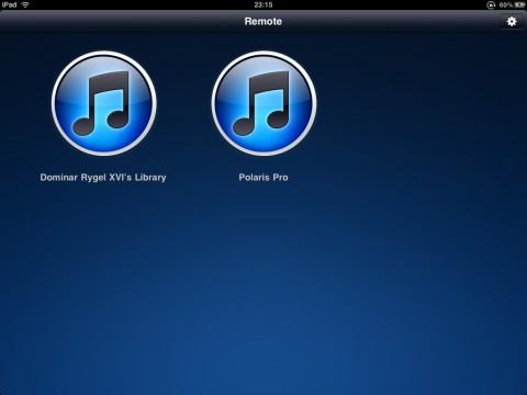 Apple Remote 2 auf dem iPad