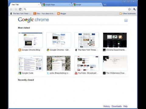 Chrome 6 mit vereinfachtem Userinteface