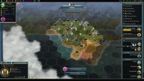 Die Bürger können auf Wunsch vom Spieler manuell zugewiesen werden.