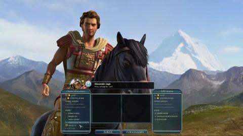 Wir fordern über das Diplomatiemenü das letzte Pferd von Alexander dem Großen.