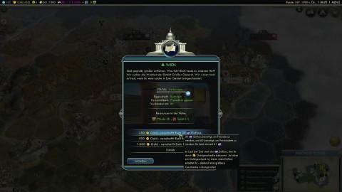 Stadtstaaten wie Wien können bestochen werden. Alternativ erfüllen Spieler Aufträge, um Einfluss zu gewinnen.