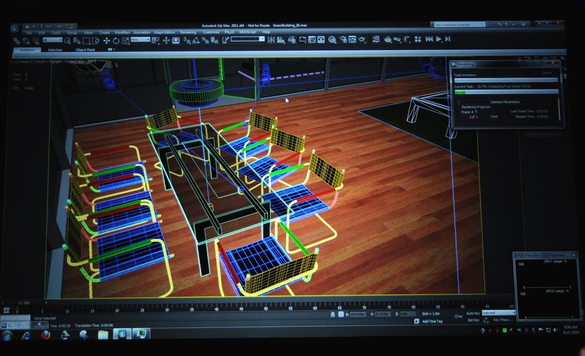 Mehr Arbeit für GPUs: CUDA für Matlab, 3ds Max - und x86-CPUs - 3D-Modell in 3ds Max