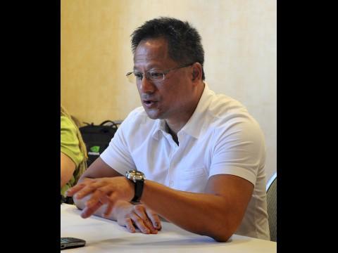 Huang im Gespräch mit Journalisten