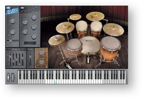 Magix Samplitude Music Studio 17 - neues Instrument Jazzschlagzeug