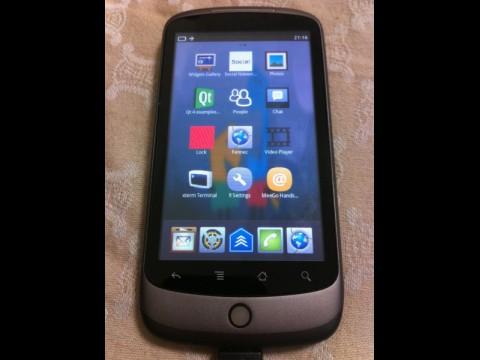 Meego auf dem Nexus One (Quelle: http://wiki.meego.com/)