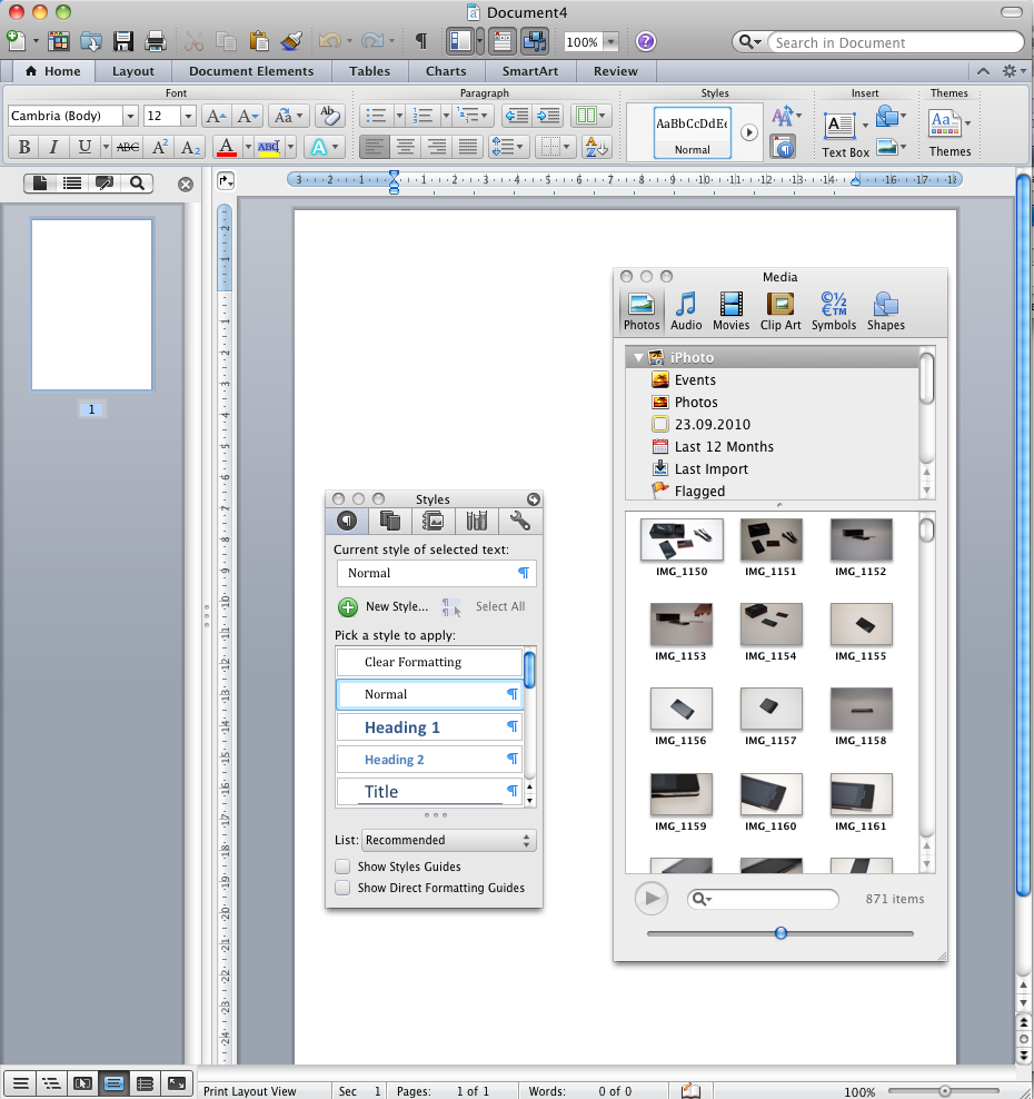 Office 2011: Mac-Version mit Outlook, aber ohne Opendocument - Mediabrowser