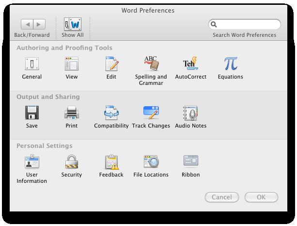 Office 2011: Mac-Version mit Outlook, aber ohne Opendocument - Viele Einstellungen in Office 2011