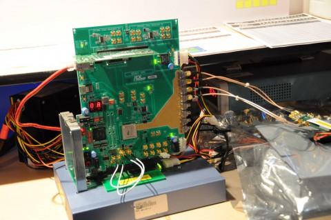 Demoaufbau von PLX Technology