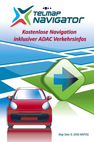 Telmap Navigator: O2 bietet kostenlose Navigationssoftware für Palm Pre - Telmap Navigator - Startbildschirm