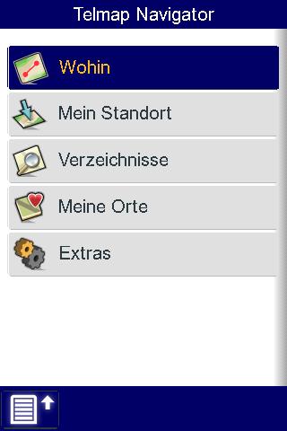 Telmap Navigator: O2 bietet kostenlose Navigationssoftware für Palm Pre - Telmap Navigator - Hauptbildschirm