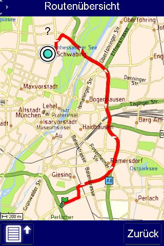 Telmap Navigator: O2 bietet kostenlose Navigationssoftware für Palm Pre - Telmap Navigator - Kartenansicht