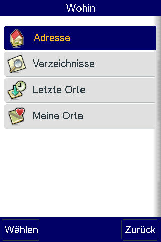 Telmap Navigator: O2 bietet kostenlose Navigationssoftware für Palm Pre - Telmap Navigator - Zielauswahl
