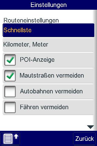 Telmap Navigator: O2 bietet kostenlose Navigationssoftware für Palm Pre - Telmap Navigator - Einstellungsdialog