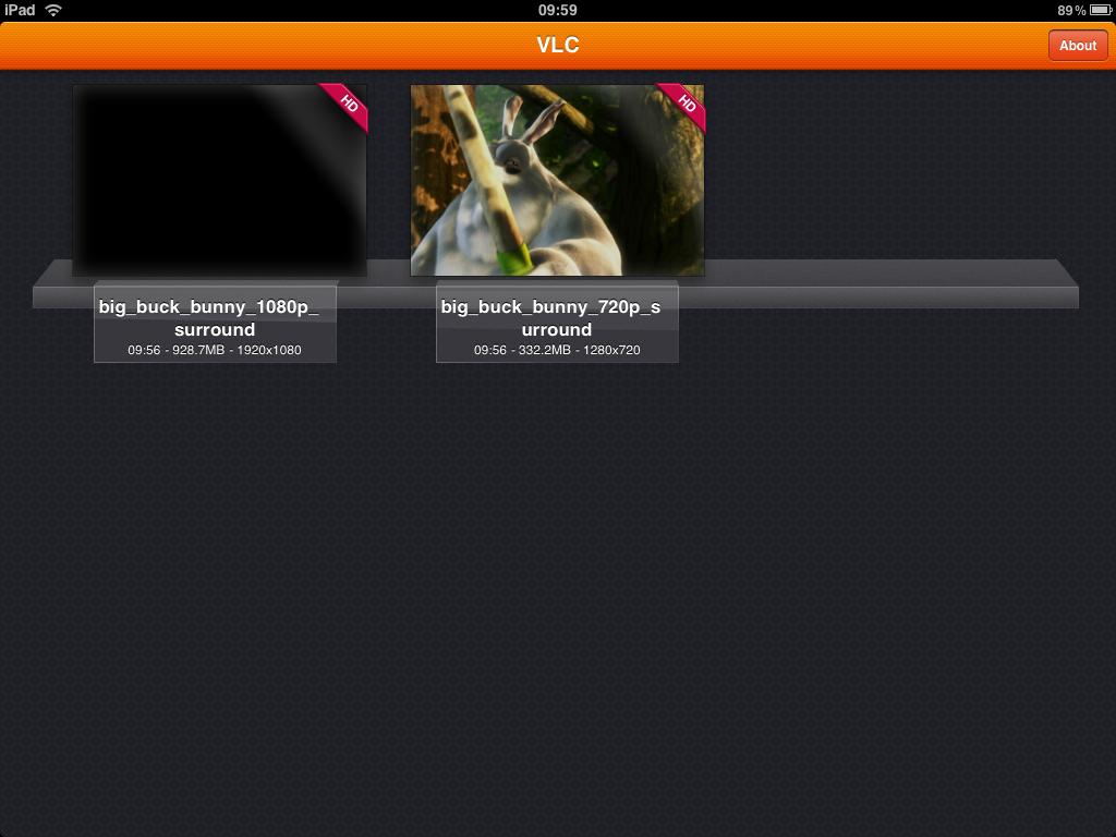 Mediaplayer: VLC fürs iPad - Die Software generiert eine Vorschau.