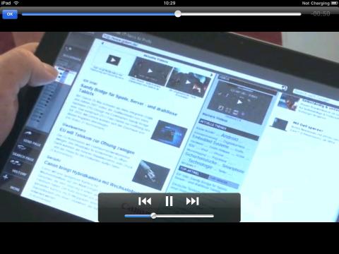 VLC-Player mit einem Golem-Video im MP4-Format