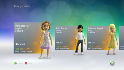 "Xbox Live: Neues Dashboard ""Metro""."