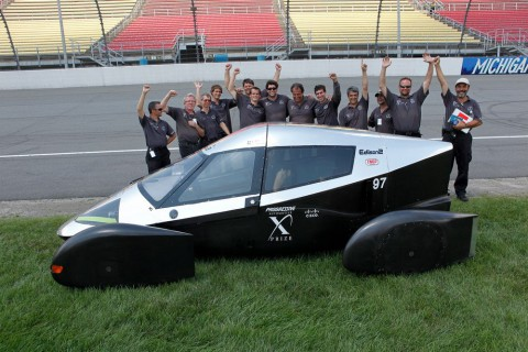 Der Sieger: Very Light Car  des US-Teams Edison2 (Foto: Automotive X Prize)