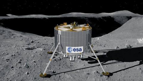 Die Mondelandefähre soll am Südpol des Mondes aufsetzen (Bild: Esa)