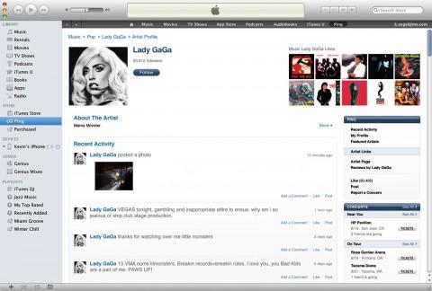 iTunes 10 - Künstlerprofil