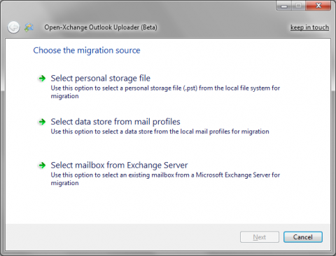Open-Xchange Microsoft Outlook Uploader
