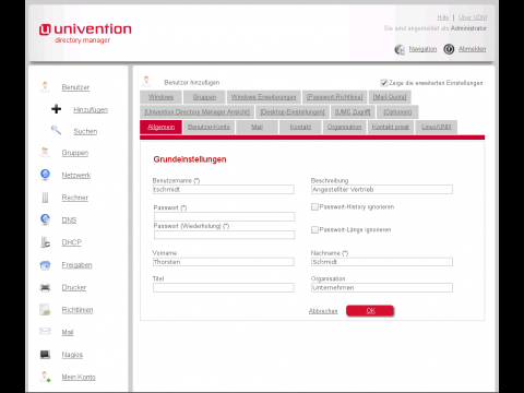 Univention Corporate Server - Managementkonsole