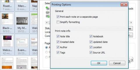 Evernote 4 - Druckfunktion