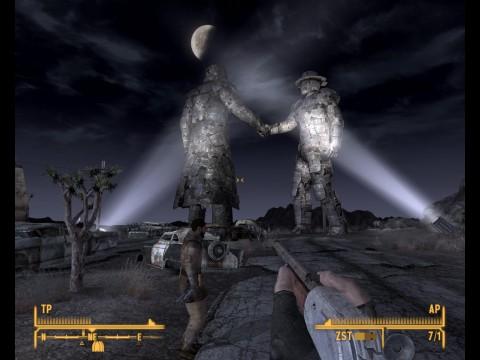 Ein Denkmal erinnert an alte, vermeintlich bessere Zeiten.