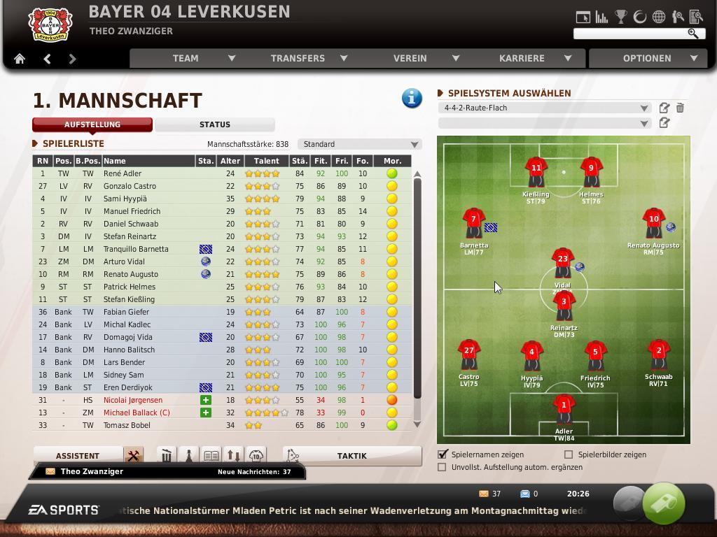 Spieletest Fußball Manager 11: Mit der Extraportion Taktik ...