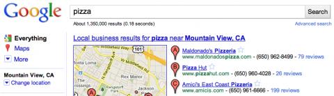 Google erlaubt Ortswechsel.