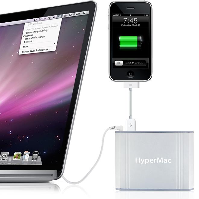 Externe Stromversorgung: Hypermac-Akkus bald ohne Mac-Anschluss -