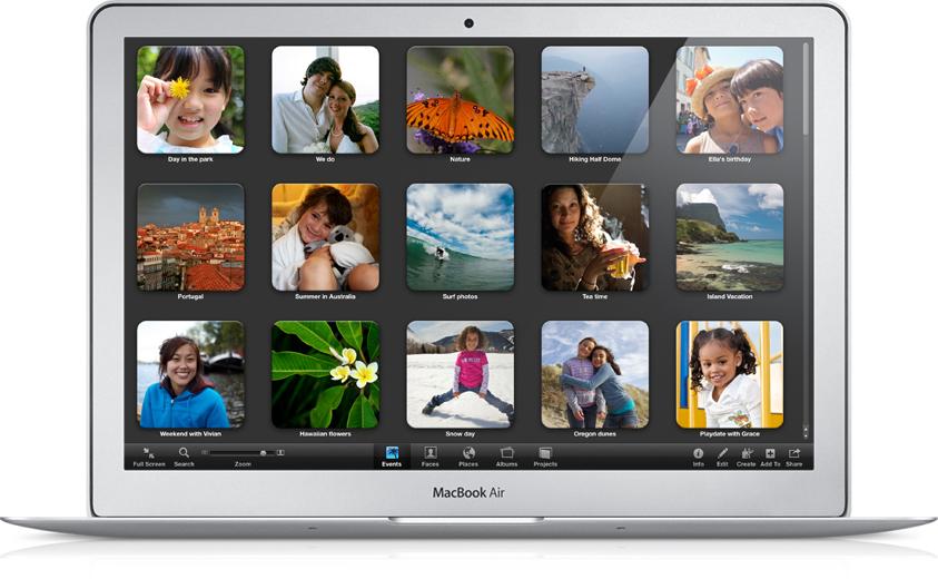 Lion: Mac OS X 10.7 trifft iOS - Mac OS X 10.7 Lion - Vollbildmodus von iPhoto 11